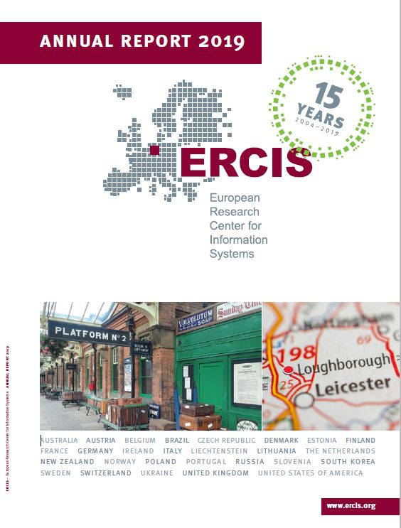 Download the current ERCIS Annual Report