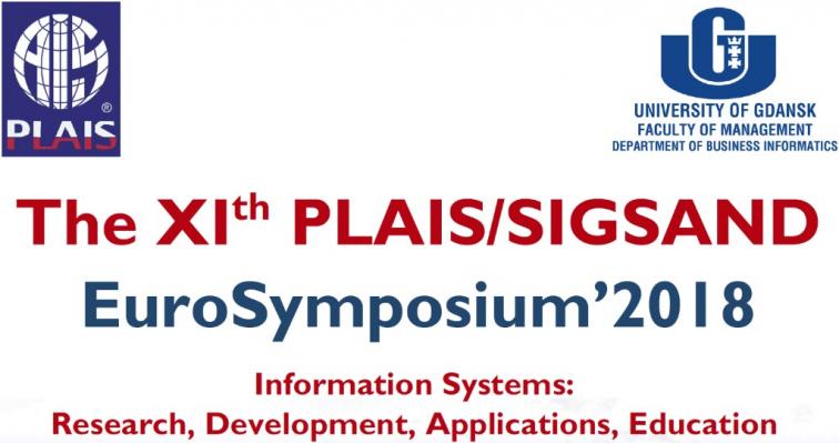 The XIth PLAIS/SIGSAND EuroSymposium'2018