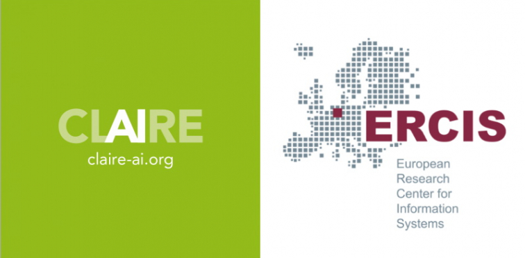 Logos of CLAIRE and ERCIS